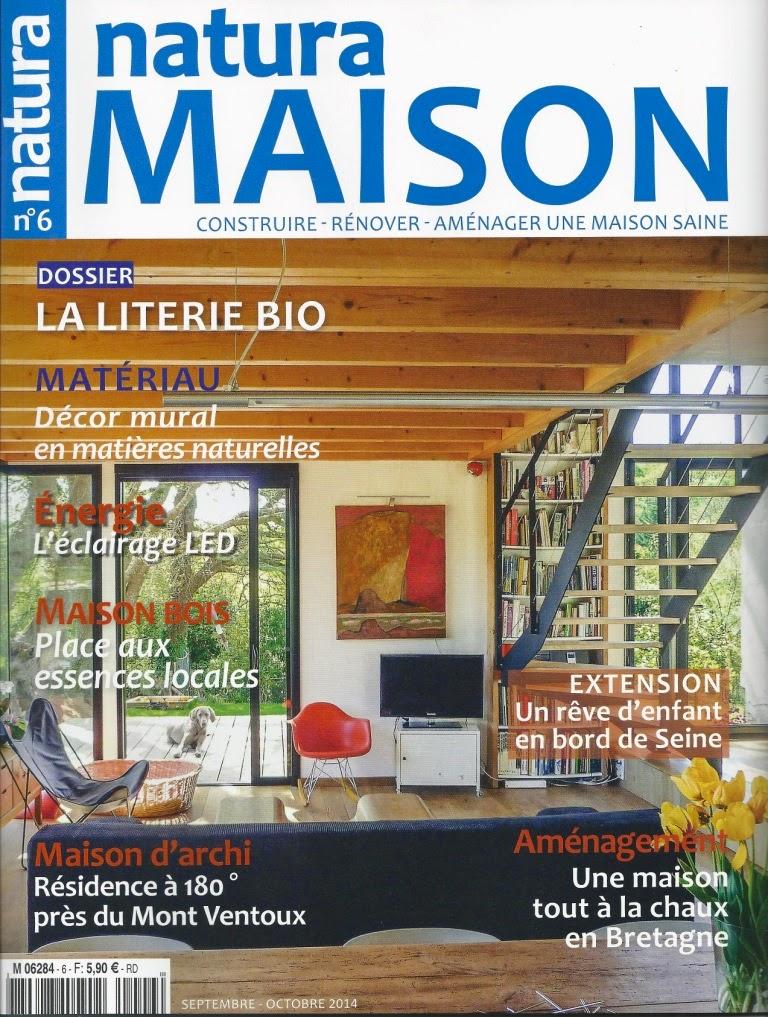 Magazine Natura Maison n°6 septembre octobre 2014