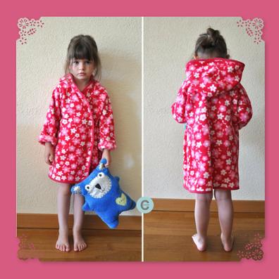 Robe de chambre pour petite fille - Robe de chambre pour petite fille ...