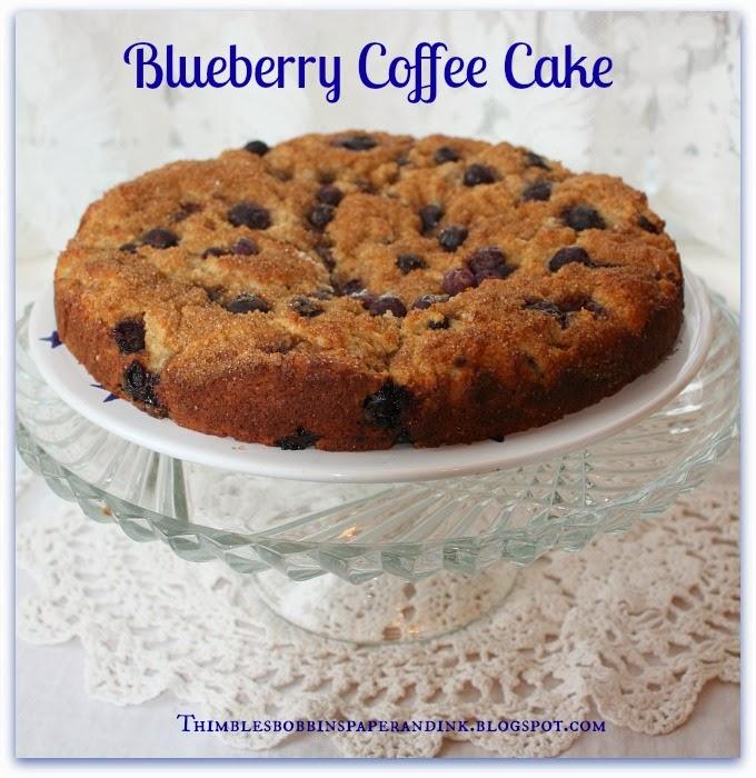 Cake Dome Sunday #39: Blueberry Coffee Cake