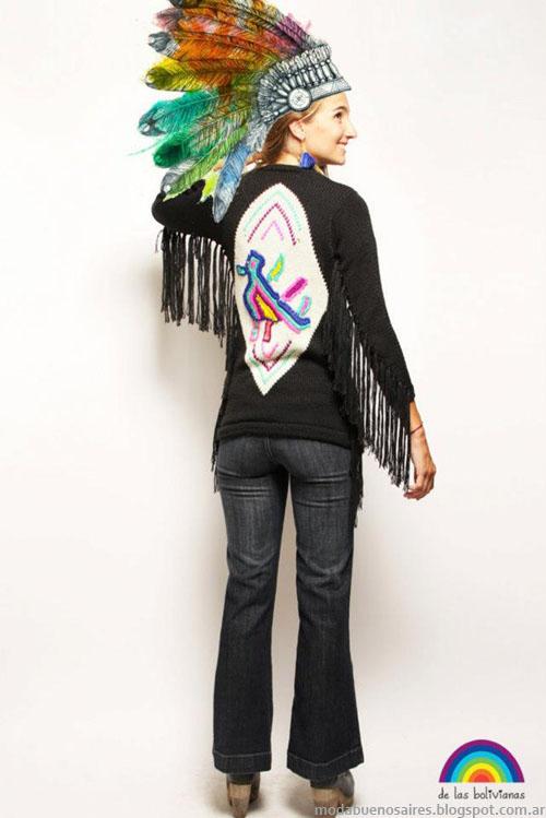 Sacos invierno 2013 moda tejidos