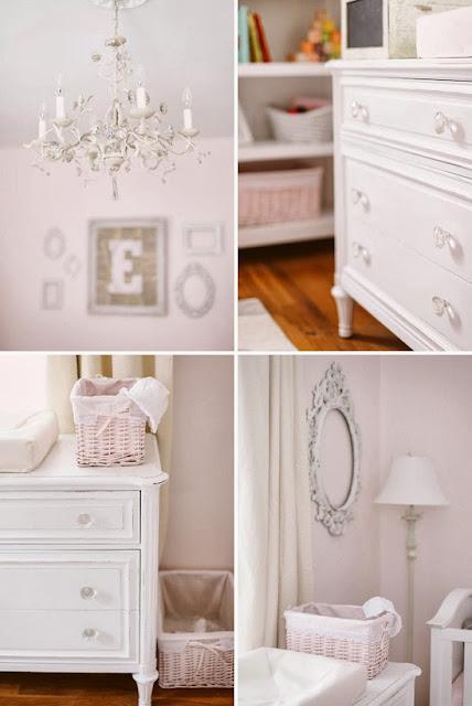 White and Blush Pink Nursery