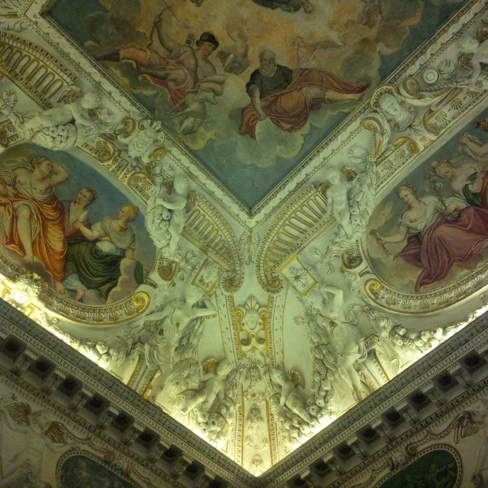 Beautifully painted ceiling in Palladio's Museum in Vicenza