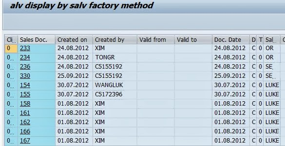 Techsap Oo Alv By Cl Salv Table Factory Method