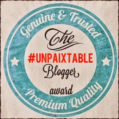 The unpaixtable blogger award!