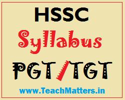 image : HSSC Syllabus - PGT/TGT 2015 @ TeachMatters