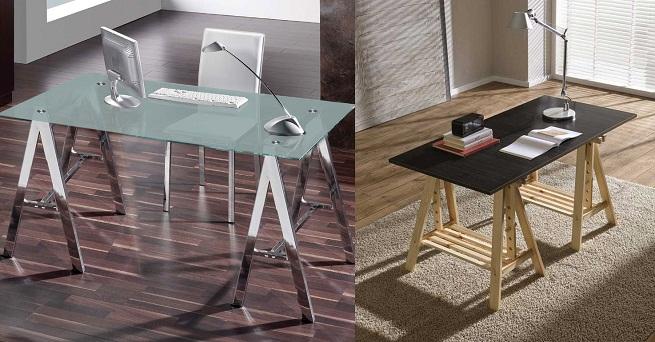 Marzua mesas con caballete - Mesa con caballetes ...