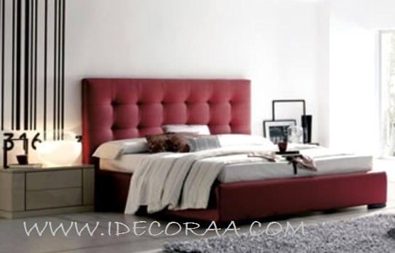 Idecoraa cama tapizada modelo 4 for Cabeceras de cama con tarimas