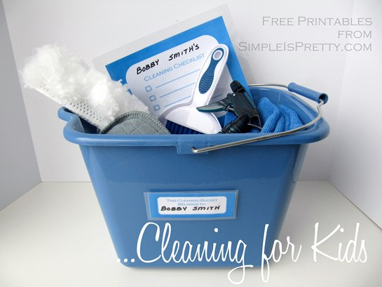 simpleispretty.com: Cleaning for Kid with FREE Printables