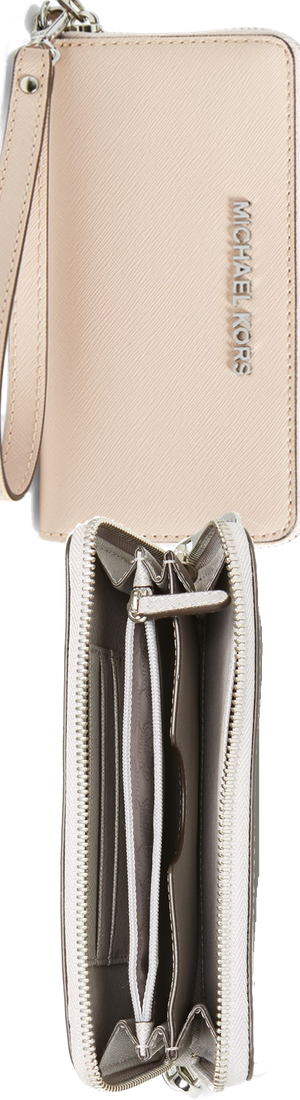 MICHAEL Michael Kors 'Jet Set' Saffiano Leather Phone Wristlet