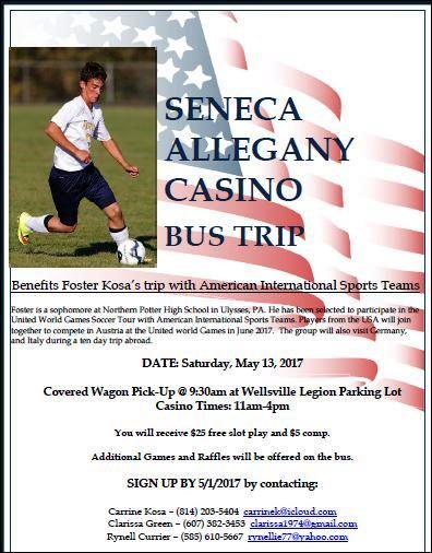5-13 Seneca Allegany Casino Bus Trip