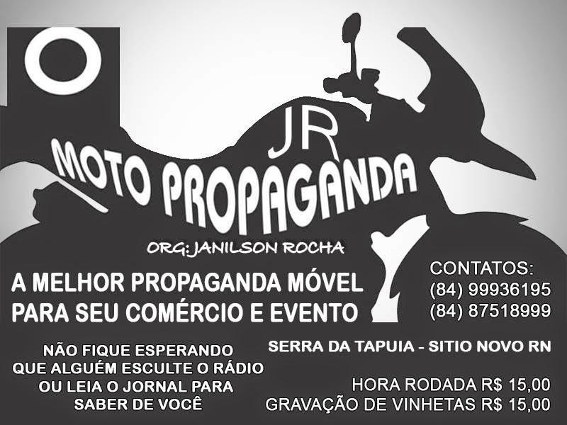 JR Moto Propaganda e Studio Art-Voz de Serra da Tapuia a parceria que deu certo, faça já sua vinhet