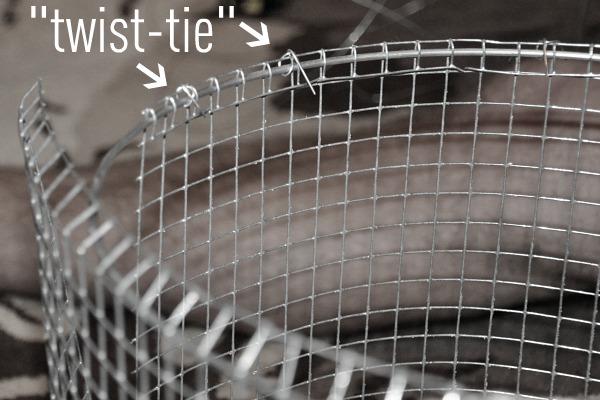 twist tie metal chicken wire lampshade