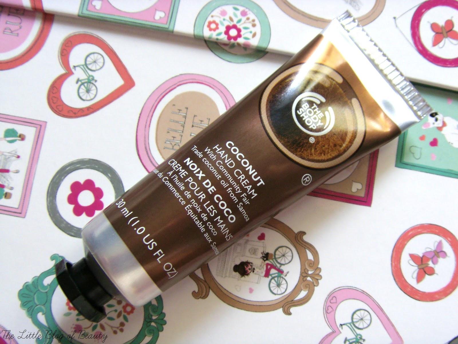 The Body Shop mini Coconut hand cream