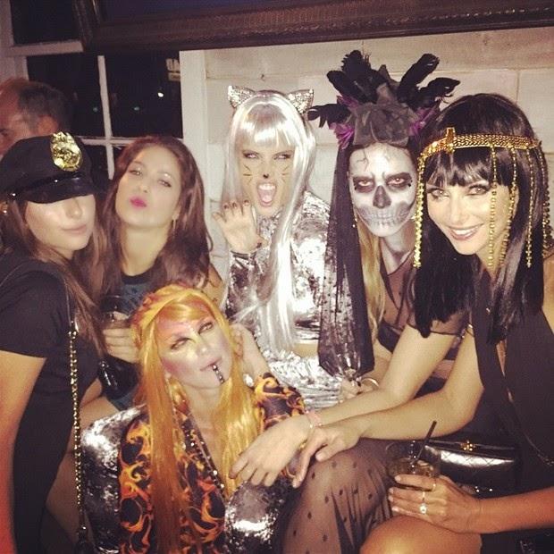 Alessandra Ambrosio and Rafa Justus  costume Halloween