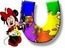 Alfabeto de Minnie Mouse pintando U.