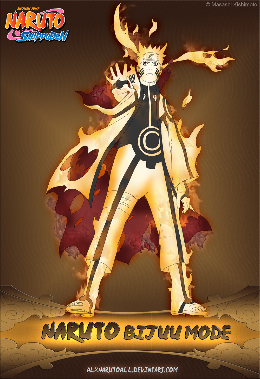 naruto kyuubi cloak mode - photo #11