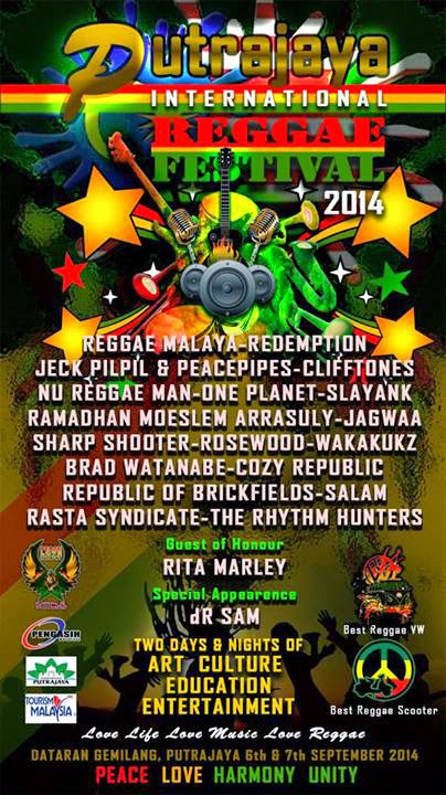 Putrajaya International Reggae Festival Band Line Up