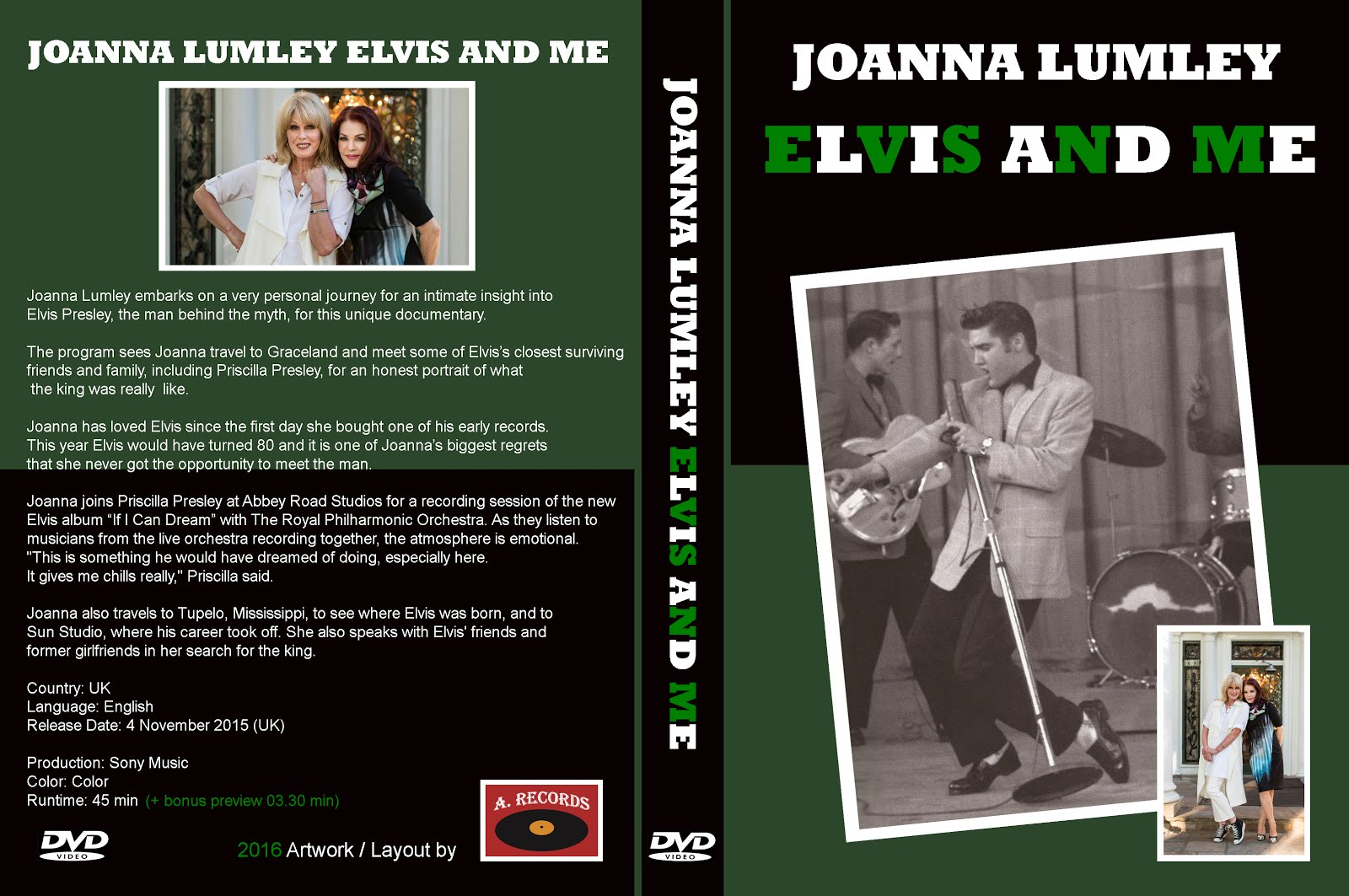 Joanna Lumley - Elvis And Me (DVD) (January 2016)