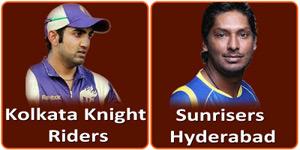 आइपीएल 6 का सत्रहवां मैच कोलकाता नाइट राइडर्स और सनराइजर्स हैदराबाद के बीच होना है।