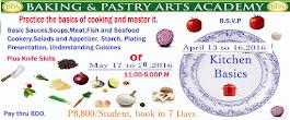 C O O K I N G  CLASS April 13-16,2016  or May 17-20,2016