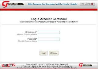 Untuk login Pb gemscool Silahakan mengisikan username dan password ...
