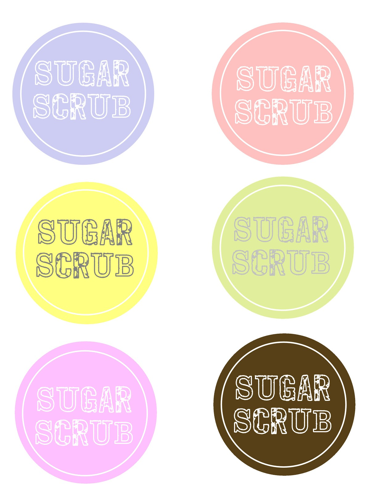 This is a graphic of Insane Printable Sugar Scrub Labels