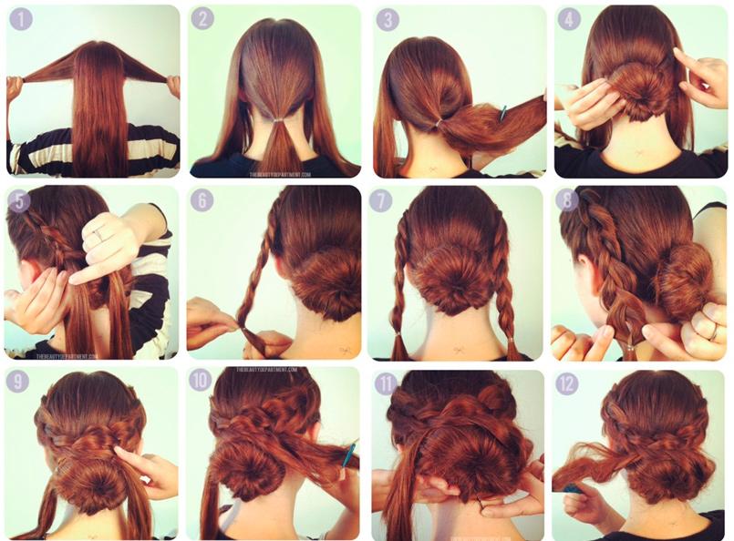 Как сделать прически на средние волосы в домашних условиях простые