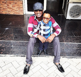 Paul Okoye and son