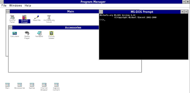 Try Windows 3.1 online
