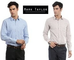 Flat 60% Off on Mark Taylor Men's Shirts starts Rs.359@ Amazon