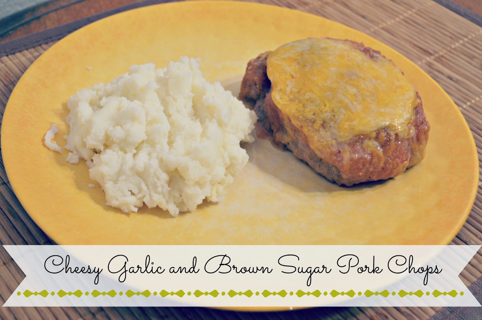 Cheesy Garlic and Brown Sugar Pork Chops #Recipe