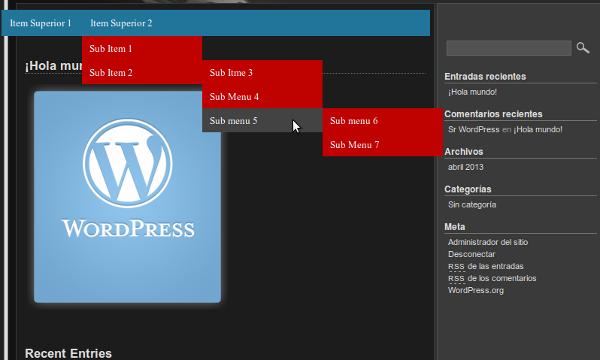 Programador Php: Crear un Menú desplegable en Wordpress