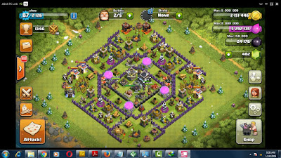 cara main coc di pc laptop