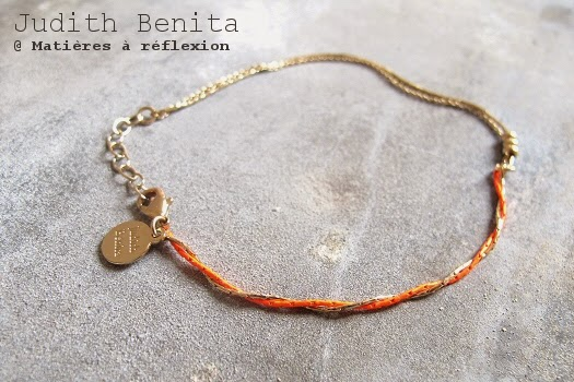 Collier Judith Benita bracelet sautoir doré rouge bijoux bliss
