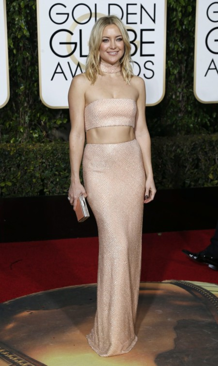 Kate Hudson vestida de Michael Kors en los Golden Globes, enero 2016