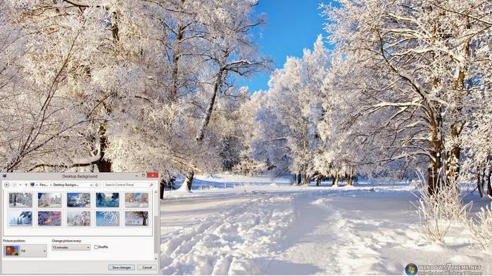 لاشجار الشتاء لويندوز