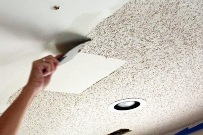 Angenuity the truth about removing a popcorn ceiling for How to remove popcorn ceiling without water