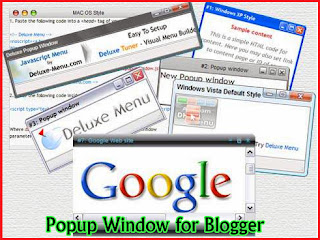 How to Create,Popup Window,Blogger,Popup Ads Code