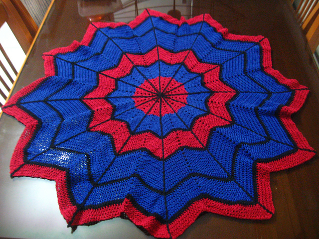 Crochet Pattern For Spiderman Blanket : Yarnovers and Such: For a super baby