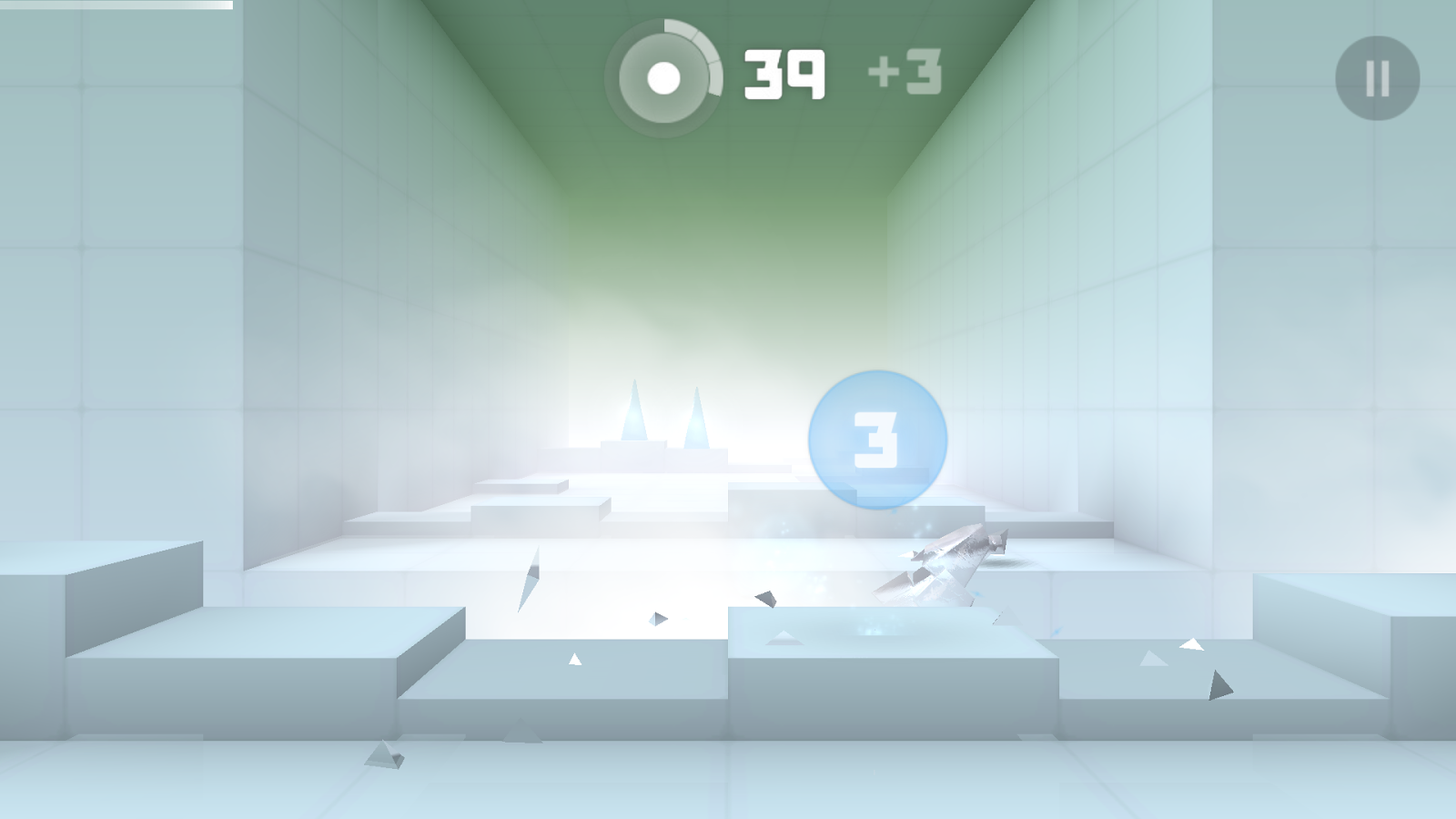 Glass breaking - Smash Hit 1.0.0 on Android Screen shot
