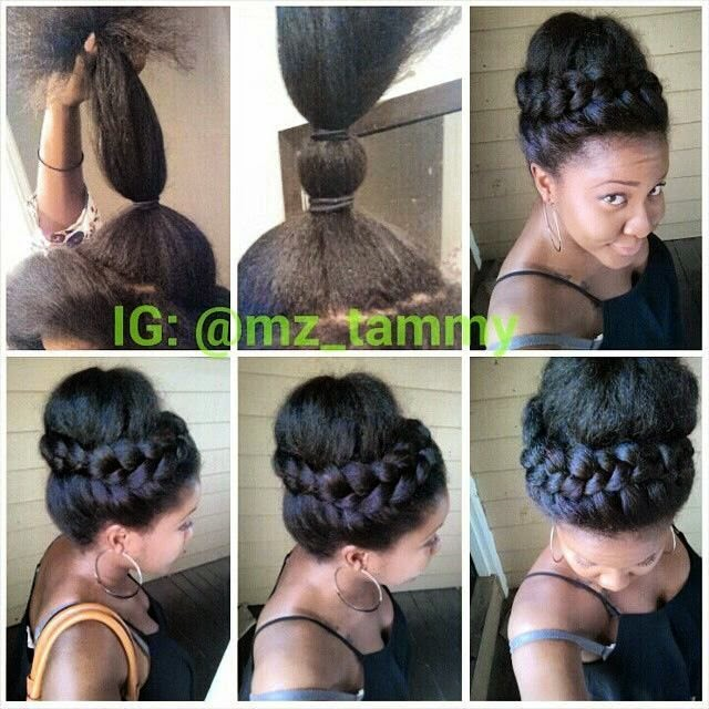 natural hair bun