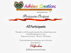 PARTICIPANT in ADHIRAACREATIONS CHALLENGE
