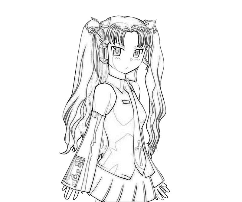 rin-tohsaka-cool-coloring-pages