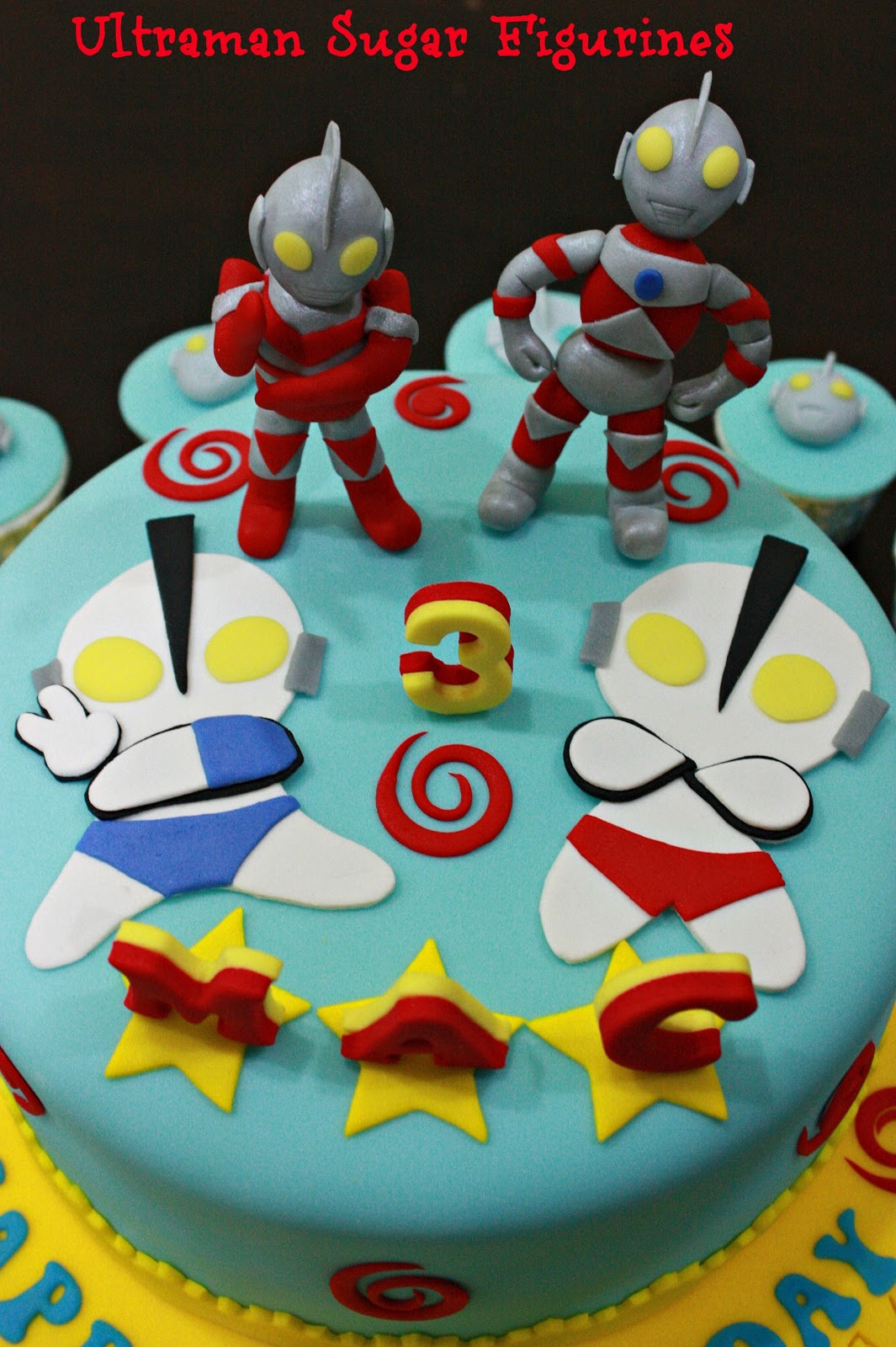 Shenys Homemade Treats Ultraman Themed Cake and Cupcakes