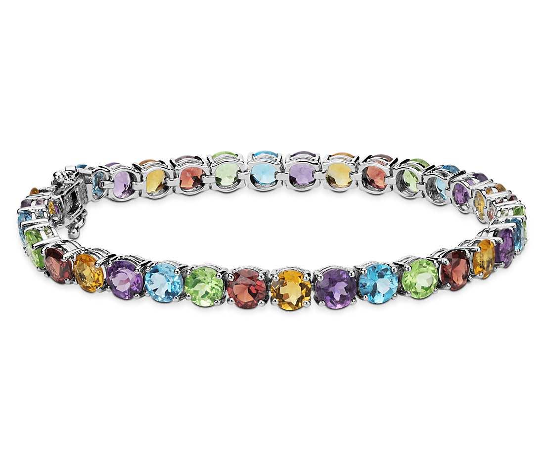 kari likelikes sterling silver rainbow bracelet