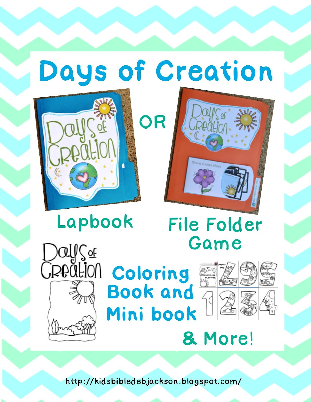 http://kidsbibledebjackson.blogspot.com/2014/08/creation-lapbook-file-folder-game-more.html