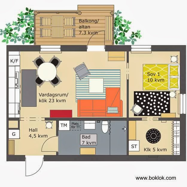 Arquitectura de casas casas prefabricadas suecas boklok - Ikea planos faciles ...