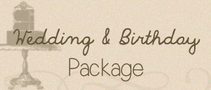 wedding & birthday package