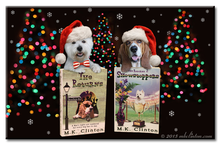 The Returns books series featuring Bentley Basset & Pierre Westie with bokeh