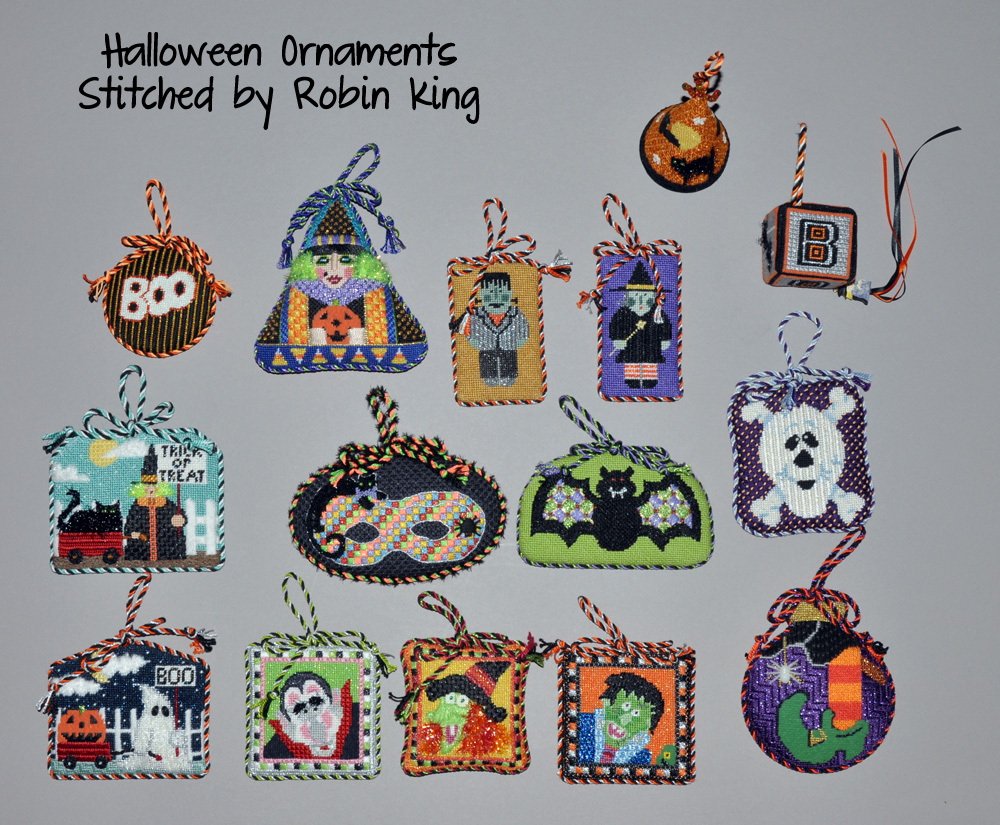 Needlepoint Study Hall: Halloween Decorations from Robin - part 3
